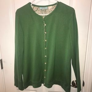 Orvis River Road Silk sweater Green Large lined